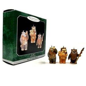 Vintage 1998 Star Wars Ewoks Ornaments Set of 3